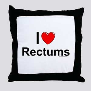 Rectums Throw Pillow