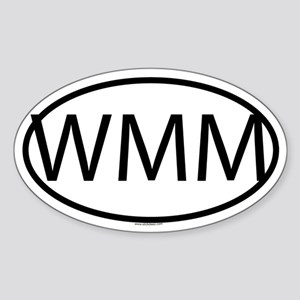 WMM Oval Sticker