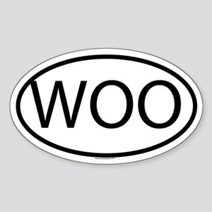 WOO Oval Sticker