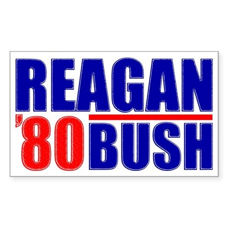 """Reagan/Bush '80"" Sticker"