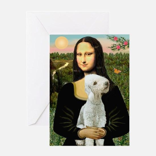 Mona / Bedlington(T) Greeting Card