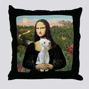 Mona / Bedlington(T) Throw Pillow