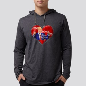 happy valentines day donald tr Long Sleeve T-Shirt