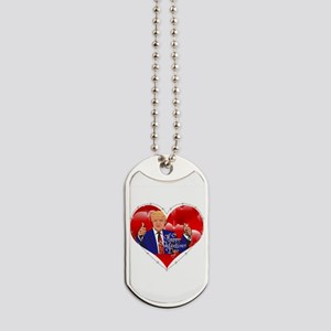 happy valentines day donald trump Dog Tags