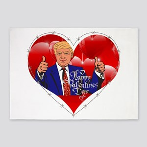 happy valentines day donald trump 5'x7'Area Rug