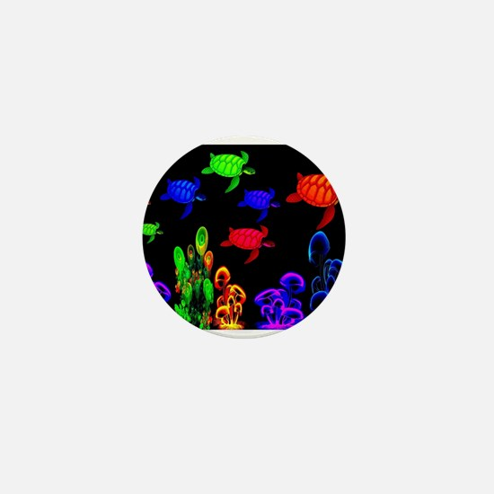 Psychedelic Turtle Migration in The Gu Mini Button