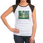 Bridge / Bedlington T Women's Cap Sleeve T-Shirt