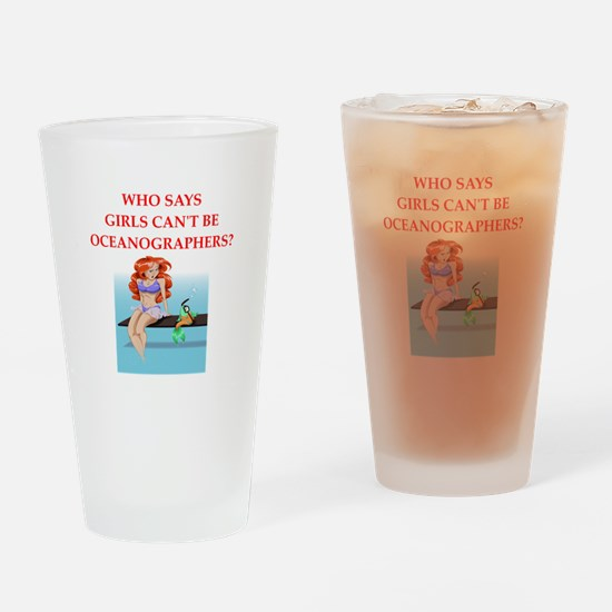 Girl scientist humor Drinking Glass