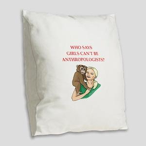 anthropology Burlap Throw Pillow