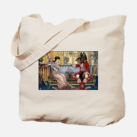 Beauty and The Beast having Tea by Walter Tote Bag