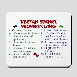 Tibetan Spaniel Property Laws 2 Mousepad