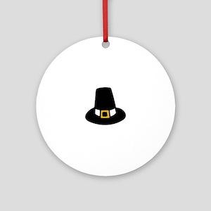 Pilgrim Hat Round Ornament