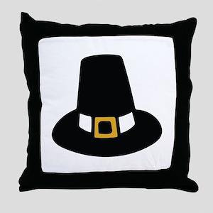 Pilgrim Hat Throw Pillow