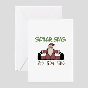 Skylar Says Ho Ho Ho Greeting Card