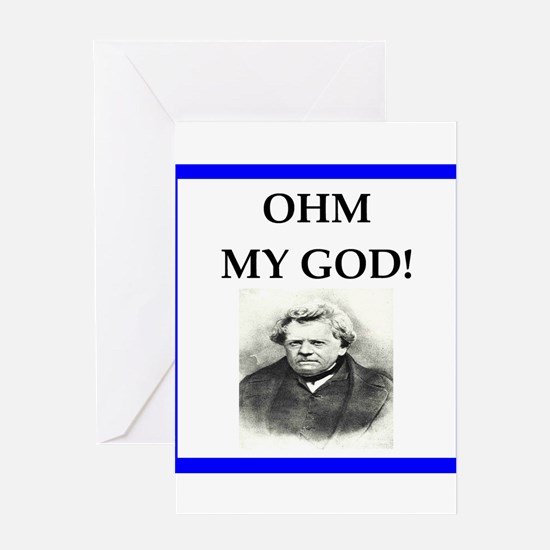Ohm Greeting Cards