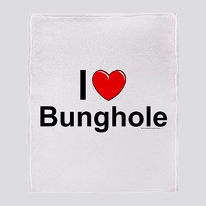 Bunghole Throw Blanket