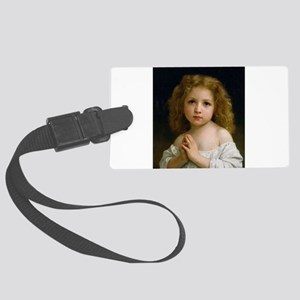 Little Girl by William Adolphe B Large Luggage Tag