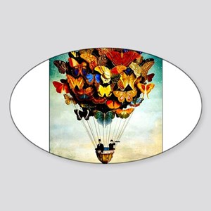 Butterfly Abstract Balloon Vintage Colorfu Sticker