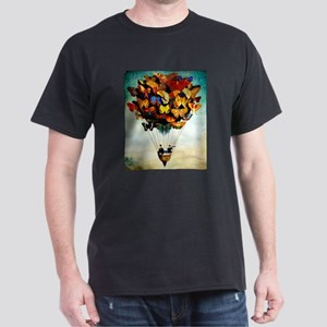 Butterfly Abstract Balloon Vintage Colorfu T-Shirt
