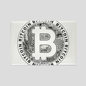 Bitcoin BTC Coin Logo Magnets