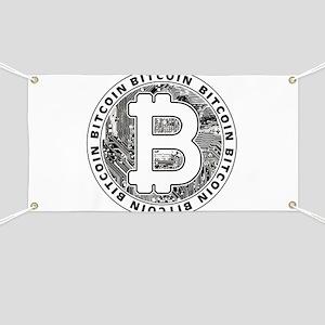 Bitcoin BTC Coin Logo Banner