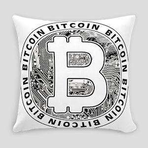 Bitcoin BTC Coin Logo Everyday Pillow