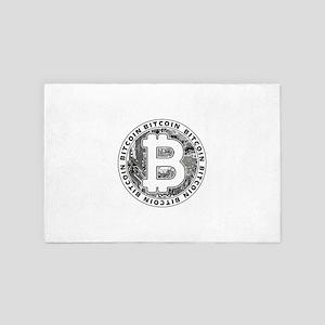 Bitcoin BTC Coin Logo 4' x 6' Rug