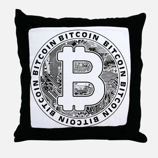 Bitcoin BTC Coin Logo Throw Pillow
