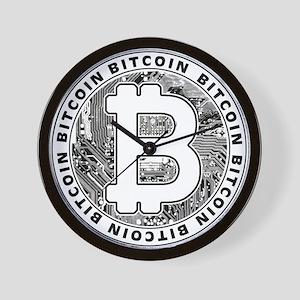 Bitcoin BTC Coin Logo Wall Clock