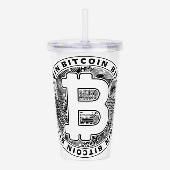 Bitcoin BTC Coin Logo Acrylic Double-wall Tumbler