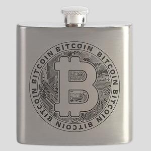 Bitcoin BTC Coin Logo Flask
