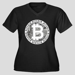 Bitcoin BTC Coin Logo Plus Size T-Shirt