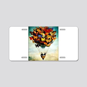 Butterfly Abstract Balloon Aluminum License Plate