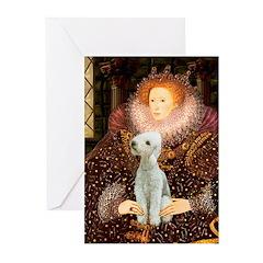 Queen / Bedlington T Greeting Cards (Pk of 10)