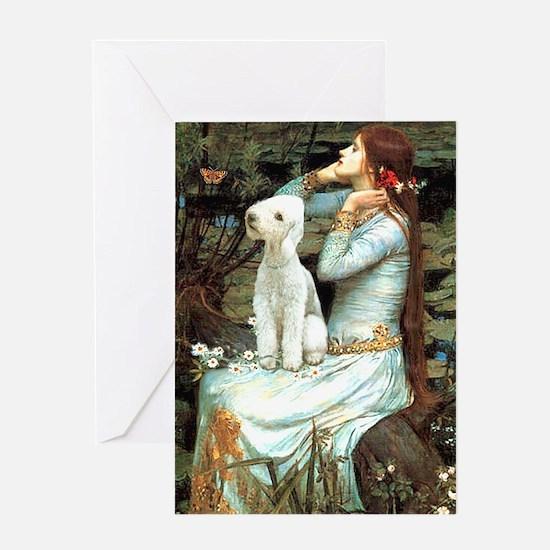 Ophelia / Bedlington T Greeting Card
