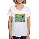 Irises /Bedlington T Women's V-Neck T-Shirt