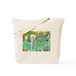 Irises /Bedlington T Tote Bag