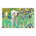 Irises /Bedlington T Sticker (Rectangle)