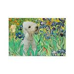 Irises /Bedlington T Rectangle Magnet (10 pack)