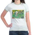 Irises /Bedlington T Jr. Ringer T-Shirt