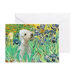 Irises /Bedlington T Greeting Card