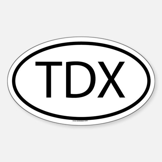 TDX Oval Decal