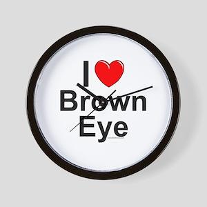 Brown Eye Wall Clock