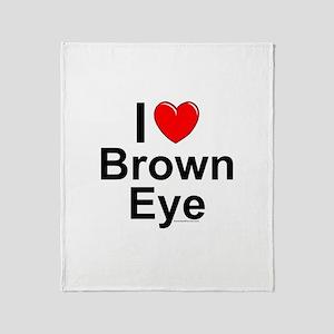 Brown Eye Throw Blanket