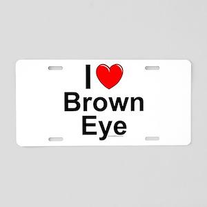 Brown Eye Aluminum License Plate