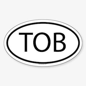 TOB Oval Sticker