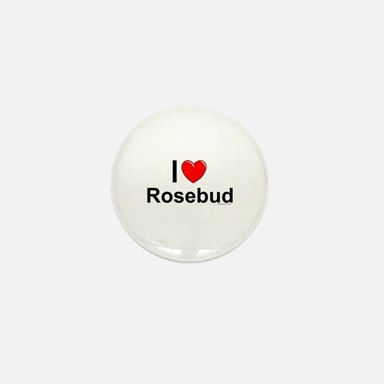 Rosebud Mini Button