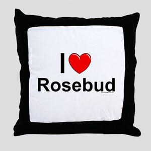 Rosebud Throw Pillow
