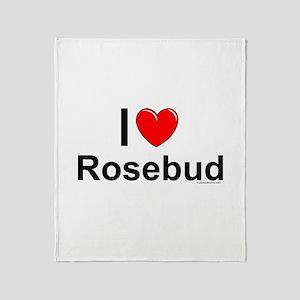 Rosebud Throw Blanket