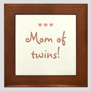 Mom of twins! Framed Tile